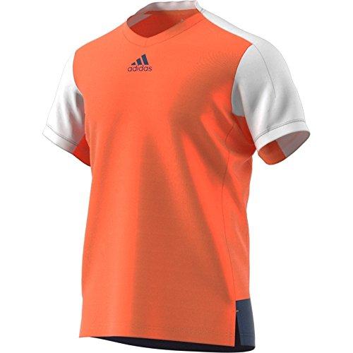 adidas Herren Melbourne Line Tee Men Shirts & Tops, orange, M - A-line-top-tee