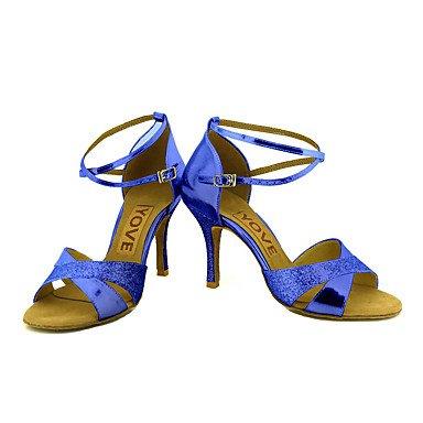 Chaussures De Danse-personnalisable-womens-latin-american Dancing / Custom-heel-tailored-shiny-noir / Bleu / Rouge / Argent / Noir Noir