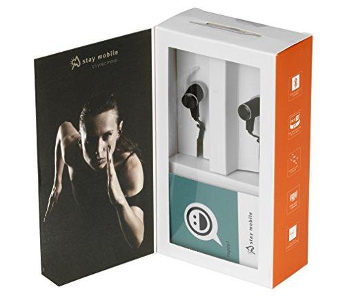 stay mobile PREMIUM Bluetooth Kopfhörer mit Mikrofon und magnetischem Headset, schwarz - 2