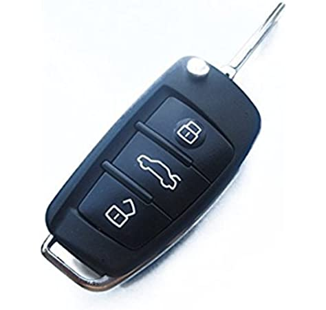 Ersatz Schlüsselgehäuse Mit 3 Tasten Autoschlüssel Klappschlüssel Schlüssel Mit Rohling Haa Fernbedienung Funkschlüssel Gehäuse Ohne Elektronik Auto
