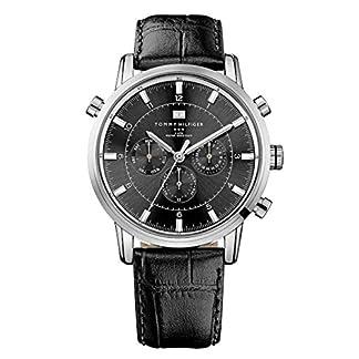 Reloj para hombre Tommy Hilfiger 1790875, mecanismo de cuarzo, diseño con varias esferas, correa de piel.