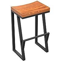 Mena Uk Retro Creative Bar High Stool, asiento Radian para una buena salud, Vintage Bar Iron Stools ( Color : Multi - color , Tamaño : 75cm )