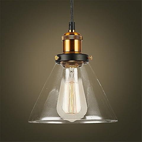 CAC Grobal Vendita calda cavo minimalista illumina Ciondolo American Loft vetro Vintage Lampadari Ristorante Bar Abajur in vetro