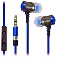 Super alta chiarezza Resistente in Metallo con isolamento acustico 3,5mm stereo auricolari/cuffie/cuffie per Verizon Wireless Ellipsis 8/Ellipsis 7(Blu)–con microfono & controllo del volume + Borsa da trasporto