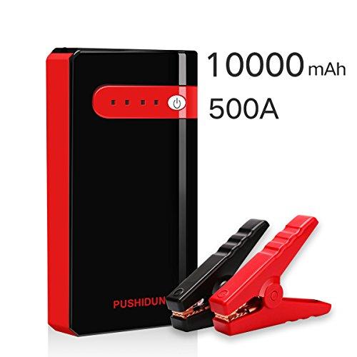 Auto Starthilfe 10000mAh 500A Anlasser Car Jump Starter Akku Power Pack Batterie Booster für 12V 2,5L Gas & Motorrad mit USB Powerbank und LED (Akku-pack-große)