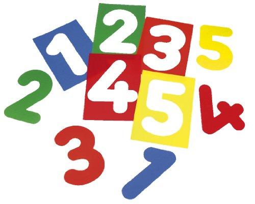 HenBea - Siluetas de números traslúcidas (pack de 10 unidades) (773)