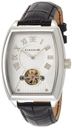 Thomas Earnshaw ES-8044-02 - Reloj para hombre con esfera analógica de color plata y correa de cuero negra