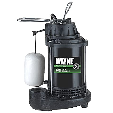 WAYNE WATER SYSTEMS - Submersible Sump Pump With Vertical Switch, Cast Iron , 1/3-HP Motor