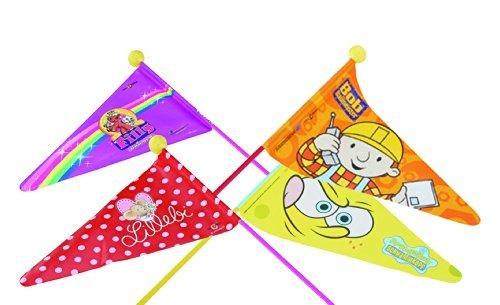 Euro-SoPo Fahrrad Sicherheitswimpel - Fahne - Fiberglasstab mit Fahne für Kinderrad (FILLY UNICORN - Motiv für Mädchen)