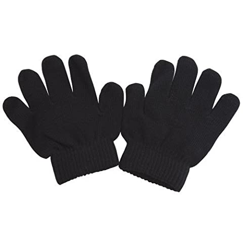 Childrens/Kids Winter Magic Gloves (One Size) (Black)