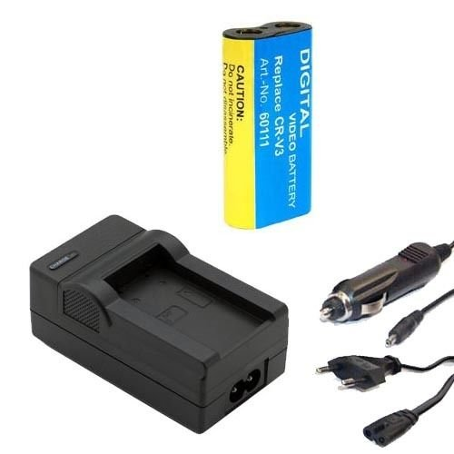 Akku + Ladegerät für Kodak EasyShare CRV3 CR-V3 Z612 Z650 Z650 Z663 Z700 Z710 Z712 IS Z740 Z812 IS Z8612 IS Z885 ZD710 Zoom RV3, CR-V3P, LB01, LB-01, SBP-1103 (Akku Für Kodak Easyshare Z612)