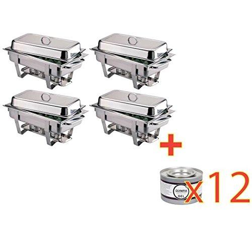 Lot de 4 Chafing dish Milan multipack 4 pièces inox d'occasion  Livré partout en Belgique
