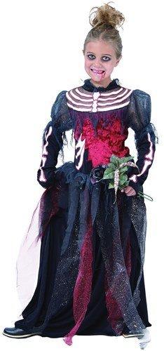 Skeleton Bride Childs Halloween Fancy Dress Costume - L 146cms