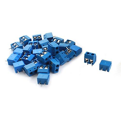 sourcing map Im Nähmaschinendesign, 5,08 mm Pitch 2 Pin Power PCB Screw Terminal-Block-Stecker blau de -