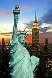 Paragon Square–Freiheitsstatue von Gary–Bild Foto auf Alu Dibond–Größe 40cm x 60cm–System von Haltevorrichtungen von Schienen Aluminium–Referenz 300146dbl3r-40