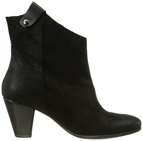 Högl 8-105612-01000, Bottes Cowboy courtes, doublure froide femme Noir - Schwarz (01000)