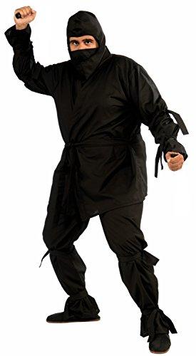 Forum Novelties Deluxe Ninja-Kostüm für große Mann (Deluxe Adult Ninja Kostüm)