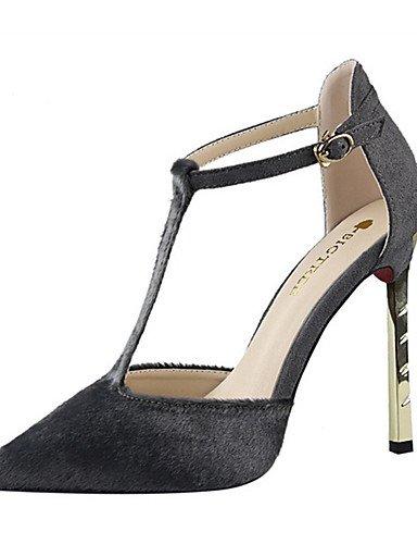 WSS 2016 Chaussures Femme-Décontracté-Noir / Blanc / Gris / Bordeaux / Amande-Talon Aiguille-Talons-Talons-Crin de Cheval black-us5 / eu35 / uk3 / cn34
