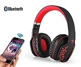Sinbide® Funkkopfhörer HIFI drahtlose Kopfhörer Bluetooth HIFI Kopfhörer kabellos Kopfhörer mit Headset Kabellose Bluetooth Kopfhörer für PC, PS4, Xbox one, Laptop, Sport Performance Ohrpolster, Lautstärkeregelung (Schwarz und Rot)