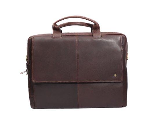 Visconti - Sac business cuir Anderson marron