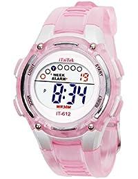 Malloom® 2015 moda Niños Niñas natación deportes digital impermeable reloj de pulsera(rosa)
