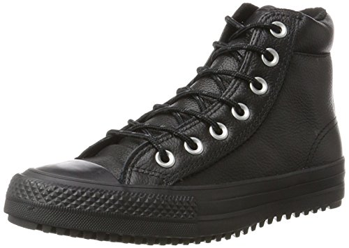 Converse Unisex-Kinder Chuck Taylor All Star Boot PC Sneakers, Schwarz Black 001, 37.5 EU (5 UK) - Converse Chuck Taylor Double Tongue