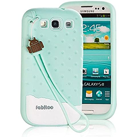 Macool Carcasa Samsung Galaxy S3 Funda Case doble protecci¨®n de capa delgada de H¨ªbrida a prueba de golpes de silicona Carcasa de piel para el con protector de pantalla,verdes (5