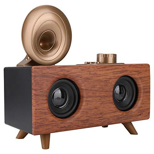 Tragbarer Vintage Retro Bluetooth Lautsprecher, Wireless Lautsprecher mit FM-Radio, Dual Horn, 8H Laufzeit, Mini USB Speaker für Reisen Zuhause Outdoors Dual-handheld-radio