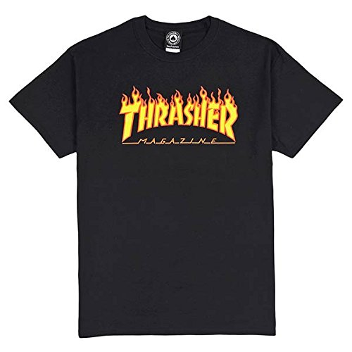 "Thrasher - THRASHER T-SHIRT FLAME ""CHarcoal"" - S"