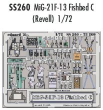 Eduard Accessories SS26030502000Mig de 21F de 13Fishbed C para Revell Montar