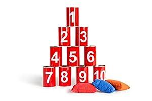 Buiten speel Juego de puntería - Volcar latas números (GA093)