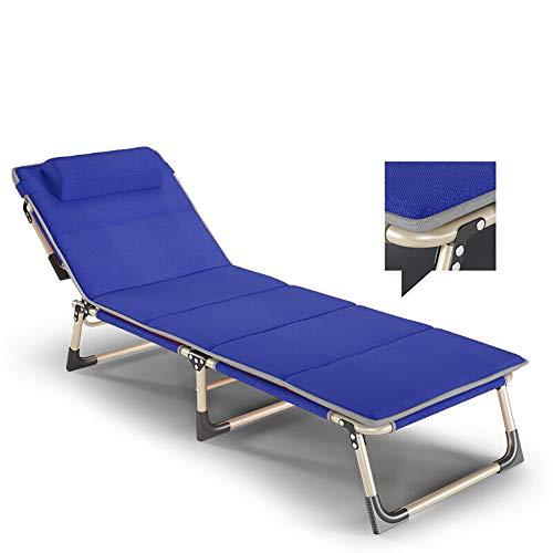 YQAD Sedie Sdraio Pieghevoli Metallo Sedie da Giardino Pieghevoli Sedie da Campeggio gravità Zero Blue
