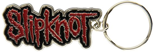 Slipknot Band Logo Name Black Red Metal Keyring Keychain Official Band Merch