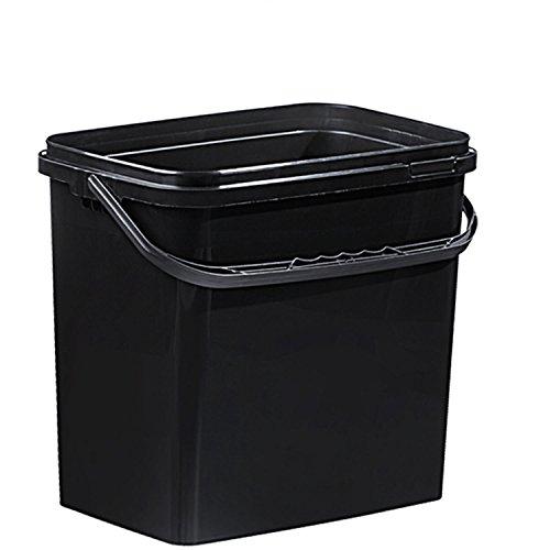 Eimer 10 Liter schwarz mit Deckel (1Stück) ()