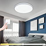 Vingo 12W–Lámpara LED de techo (Cambio de color salón cocina lámpara de iluminación de techo Panel araña Ultraslim Dormitorio Comedor bajo consumo