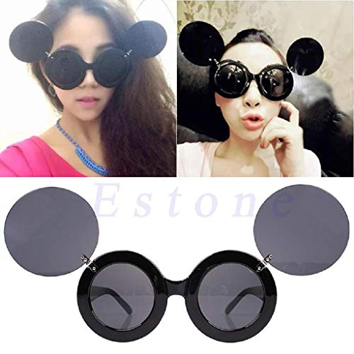 Fashion Trend Retro Lady Style Cartoon Maus Flip Up Runde Sonnenbrille