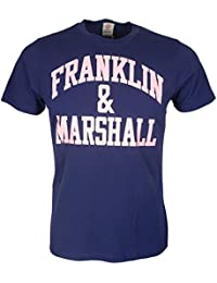 Franklin & Marshall Marineblaue Logo t-Shirt mit Print