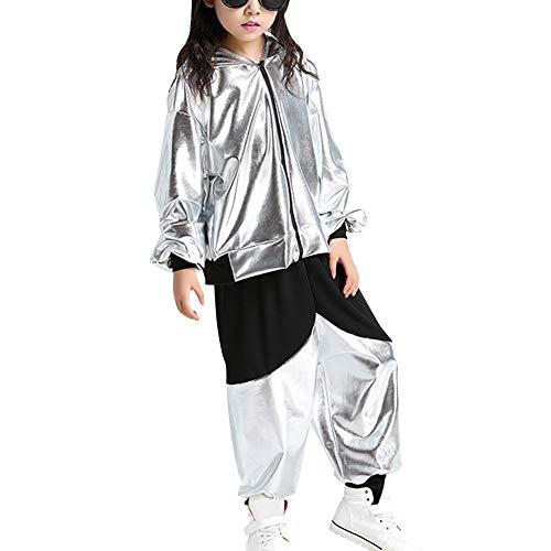 Yiliankeji Kostüm Hip Hop Dancewear Mädchen - Tanzsport Jungen Pailletten Dance Ballsaal Modern Jazz Kleidung Top Hose Tanzbekleidung Kostüme Sets