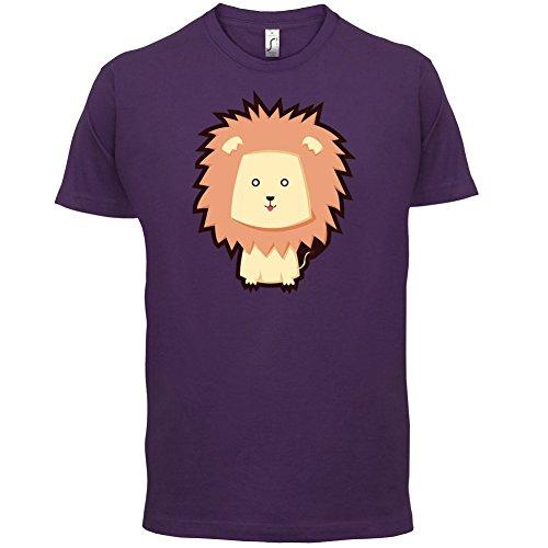 Cute Lion - Herren T-Shirt - 13 Farben Lila