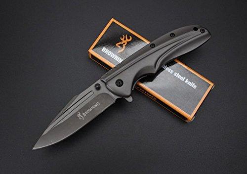FARDEER KNIFE DA-63 Stahl Titanium Schwarzes Faltmesser