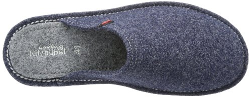 Living Kitzbühel Pantoffel Flex uni Pantoffel Flex Filz Uni, Chaussons mixte adulte Bleu - Blau (jeans 560)