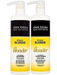 John Frieda Sheer Blonde Go Blonder éclaircissant Shampooing 500ml et après-shampoing 500ml Duo Lot