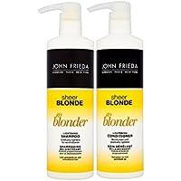 John Frieda sheer Blonde Go Blonder Lightening shampoo 500ml & conditioner 500ml Duo Pack