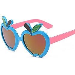 Aierwish Männliches und weibliches Kinder Neue schön Apfel UV-Schutz Sonnenbrille (5)