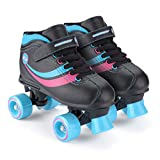 Chica Toyrific - Patines Retro, color Negro Black/Blue/Pink/White, talla 32