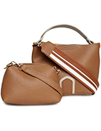 Alvaro Castagnino Brown Colored Sling Bag With Pouch For Women - B07BZDXFLZ