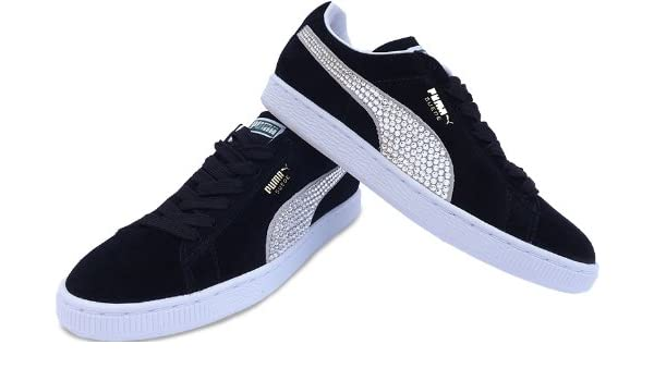 Puma Women s Suedes Crystallised With Dazzling Swarovski Crystals Black  Size 8  Amazon.co.uk  Shoes   Bags cfde58b4c