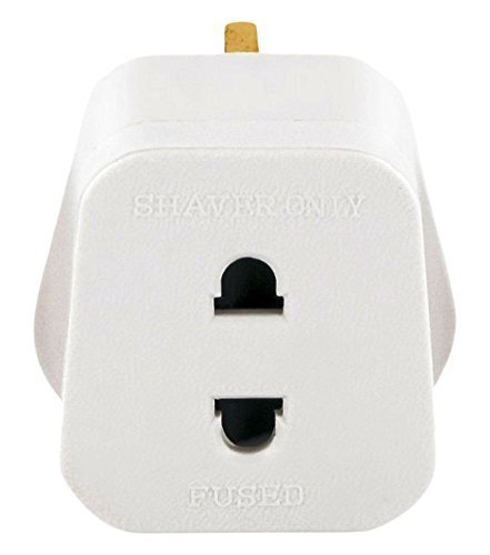 Price comparison product image Bulk Hardware BH03492 1amp Shaver Adaptor to British Standard
