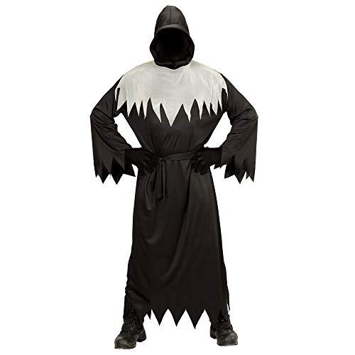 WIDMANN 00168 - Kinderkostüm Ghoul, Robe mit Kapuze, unsichtbarem Gesicht und Gürtel, Größe 158, schwarz
