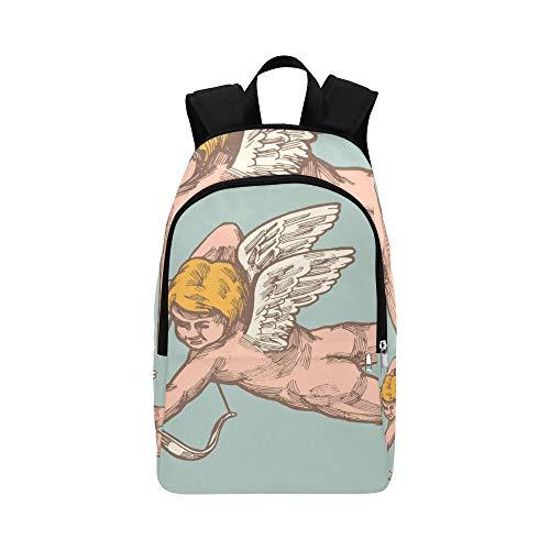 Lustiger Amor Charakter Mit Bogen Und Flügel Lässige Daypack Reisetasche College School Rucksack Für Männer Und Frauen -